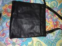 John Lewis Black Lether shoulder Bag