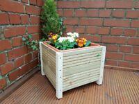 Handmade 34cm Decking Planter with legs and plastic trough Garden / Herb / Flower