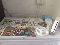 Nintendo Wii Bundle 8 Games Mario Kart Excellent Condition