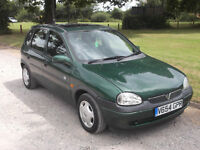 1999 VAUXHALL CORSA CLUB 16v 1.2, MOT JULY 2017, FSH, ONLY 63,000 MILES, 1 OWNER FROM NEW