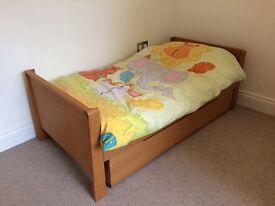 Mamas and Papas Mikado cot bed and under bed draw