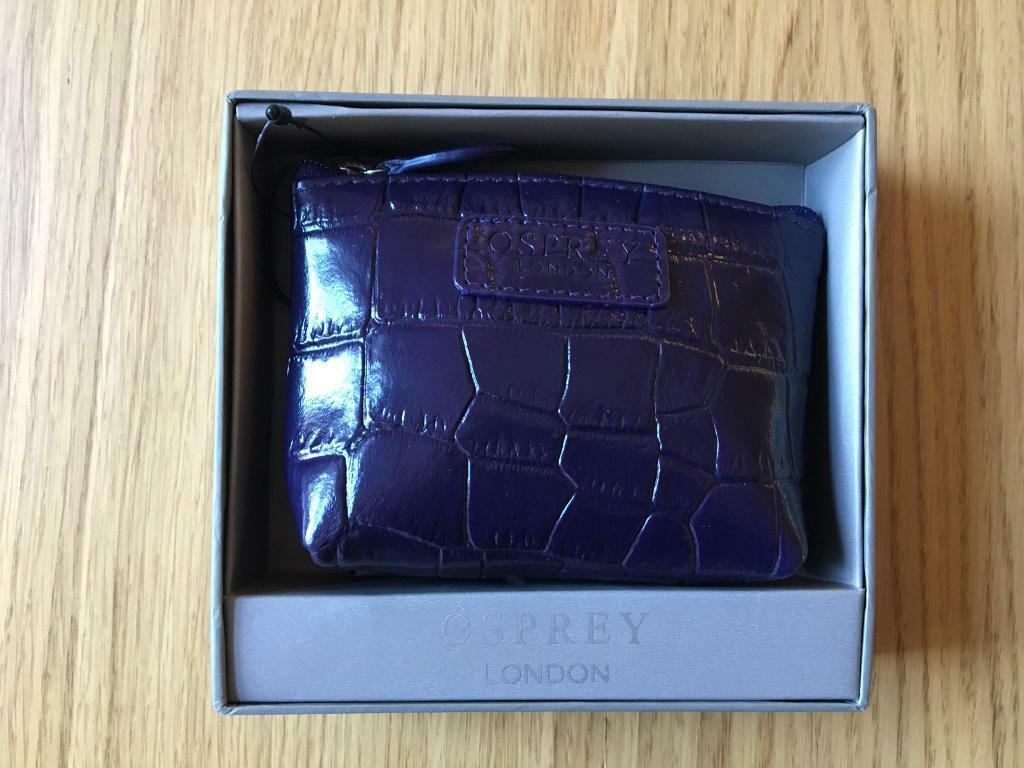 e862f47fda7c Osprey London Coin Purse Wallet Leather Croc Purple | in Marchmont ...