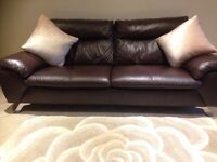 Italian leather suit 3 and 2 seater