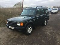 Land Rover discovery TD5 DIESEL 5 speed manual No mot needs welding drives well tow bar 4x4 vehicle