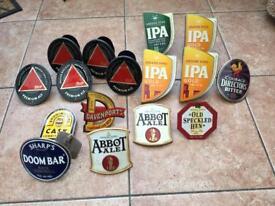 Job lot metal beer pump clips