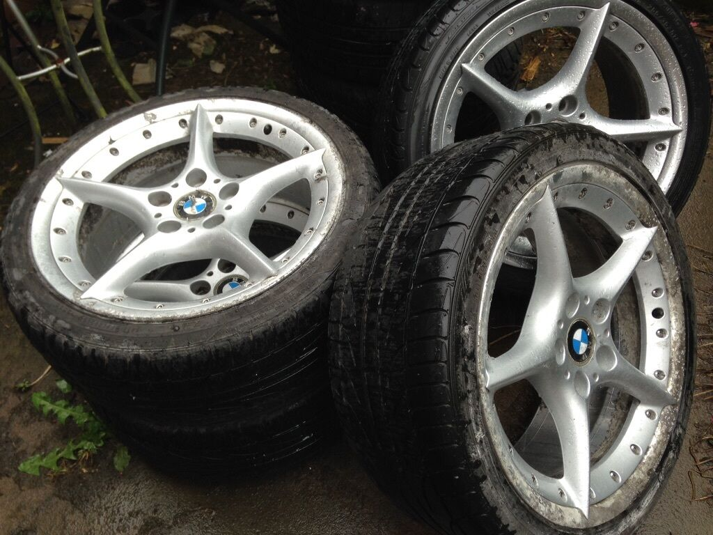 Bmw Bbs 18 Quot Split Rims Style 108 With Tyre S Z4 Z3 E36 E46 Etc Drift Track Day Ac Schnitzer