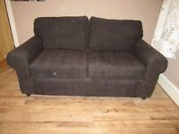 Ikea chocolate brown 2 seater bed settee