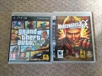 PS3 game bundle Grand theft auto, mercenarie2