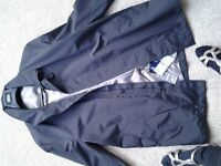 men's black jacket, marks and spencer, new with tags, large.