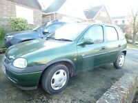 VAUXHALL-CORSA CLUB -GREEN-5 DOOR-PETROL-1200CC- 74735 MILES-MOT-DEC.2017