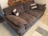 SCS 3 SEATER SOFA X2 AND FOOT STALL.