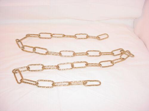 Vtg Twist Link Chandelier Chain Goldtone Metal Lighting