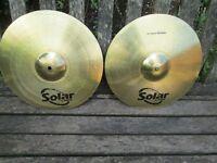 "Cymbals - 14"" HiHat Cymbals - Sabian Solar"