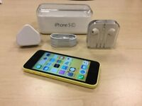 Yellow Apple iPhone 5C 32GB Factory Unlocked Mobile Phone + Warranty