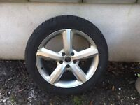 """Set of 4 Audi Q7 19"""" alloys with almost new 275/45 ZR 20 110 Winter tyres"""