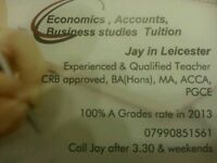 Accounting, Economics & Business Tutor Leicester