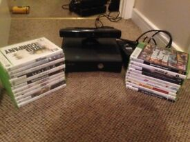 XBOX 360,250GB GAMES CONSOLE WITH KINECT AND 21 GAMES
