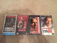Terminator 2 / Predator / The Running Man / True Lies VHS Tapes Arnold Schwarzenegger Collection