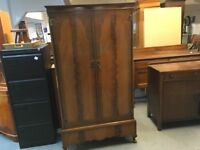 BEAUTIFUL SMALL VINTAGE WARDROBE WITH DRAWER