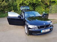 BMW 1 SERIES 2.0 118d, 2012, Full Service History, Excellent Condition, Air Con, Parking Sensors