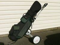 HIPPO FULL SIZE GOLF BAG AND DUNLOP TROLLEY