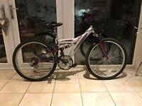 Probike Stormcloud Full Suspension Girls Mountain Bike