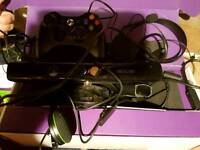 Xbox 360 Kinect, controller and ear peice