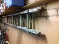 12ft + wooden extendable ladder