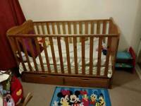 Cot bed with two drawers