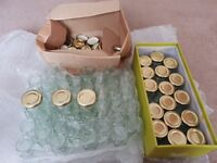 56 Hexaganol Jars 2.5 inches high