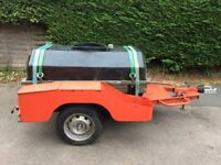 Nato, braked Water bowser car trailer, made by Godiva fire pumps ltd
