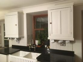 Kitchen cupboards - painted pine