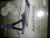 Aero Pilates Machine - Pilates workout equipment and DVD's as new.
