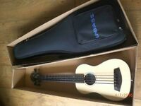 Bass fretless ukelele by Kala - solid spruce top, boxed