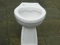 White ceramic WC loo pan