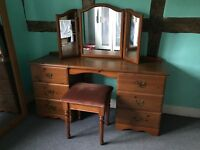 Dressing Table, Double Wardrobe and Chest of Drawers
