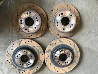 Honda Civic type r drilled and grooved discs mintex
