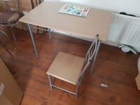 Small dining table with 4 chairs