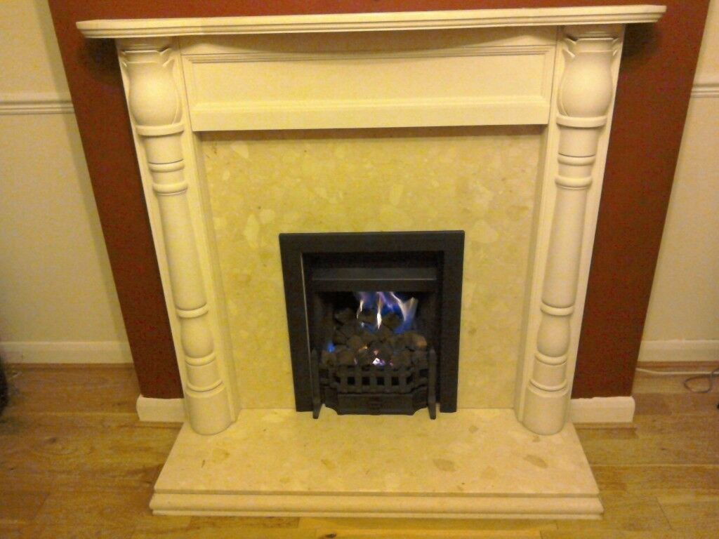 Stone Effect Fire Surround and Hearth