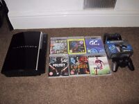 Play Station 3 (PS3) with games and Controllers