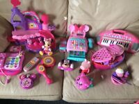 Girls large toys bundle lots of items Minnie peppa my little pony
