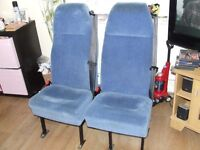 rear van seats with integral 3point seatbelts