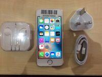 IPHONE 5S GOLD/ UNLOCKED / 16 GB/ VISIT MY SHOP. / GRADE A / WARRANTY + RECEIPT