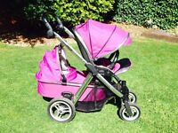 Oyster max travel system. Includes: carry cot, seat, 2x rain covers, foot muff & boogyboard.