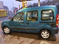 Renault kangoo with 1 year MOT