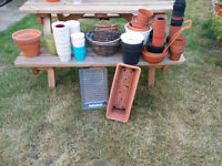 Big selection of flower pots, seed planters