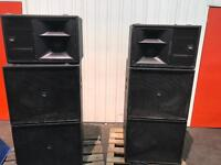 KV2 ES complete PA System. Inc ES1.0s, ES1.8s, Epac 2500R amps, some cables and covers.