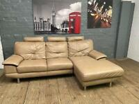 HARVEYS REAL LEATHER SOFA CHAISE IN GOOD CONDITION