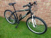 Apollo slant mountain bike 18 gears 14 inch frame 26 inch alloy wheels v brakes