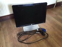 "HP 20"" Widescreen LCD Computer Monitor"